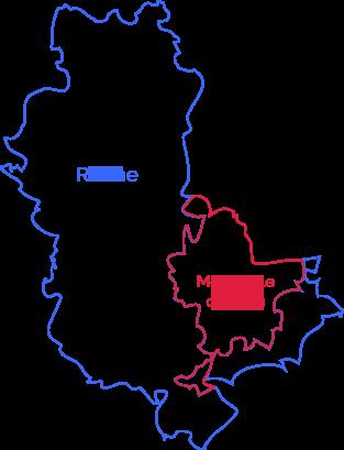 Carte Rhône et Métropole de Lyon